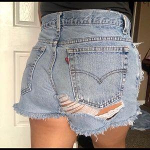 Levi's  | 550 Denim Distressed Shorts